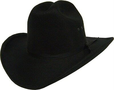 Kids Boys Girls Western Black Cattleman Cowboy Cowgirl Hat Black Band *NEW*