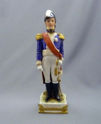 Antique Capodimonte Italy Porcelain Napolionic General BERTRAND Figurine Figure