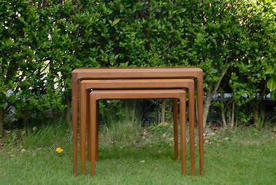 20th Century Modernist Danish Silkeborg Nesting Tables Johannes Andersen 1960s