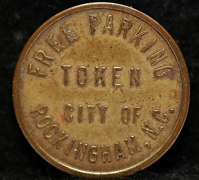 City of Rockingham N.C. Free Parking Token, Very Fine,                     13xgm