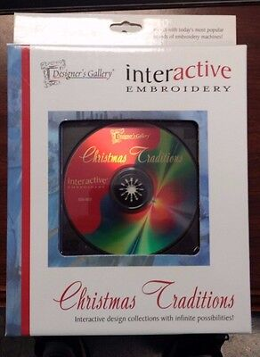 Designer's Gallery Christmas Traditions Interactive Embroidery Software