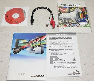 Pinnacle DC30 Audio Cable Software USER Manual NEW