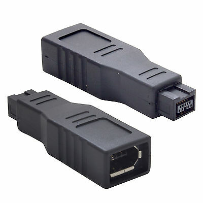 Firewire 800 9 Pin Male to Firewire 400 6 Pin Female Adaptor Converter