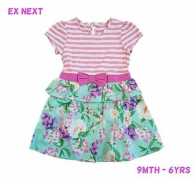 Girls Baby Dress Summer Party Kids Outfit Floral Flowery  9Mth-6Yrs NEW  RRP £16