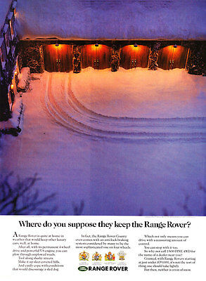 """1992 Land Rover Range Rover in Garage photo """"Where Do You Suppose It Is?"""" AD"""