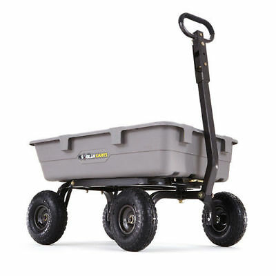 Gorilla Carts 800 lb. Capacity Heavy-Duty Poly Garden Dump Cart GOR5COM new