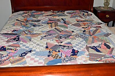 "Lot of 12 ANTIQUE VINTAGE 20"" QUILT BLOCKS SQUARES STAR PATTERN OLD FABRIC !!"