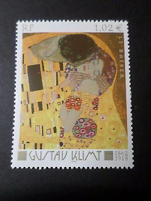 FRANCE 2002 timbre 3461, TABLEAU KLIMT LE BAISER, PAINTING, neuf**, VF MNH STAMP