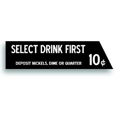 Vending Machine 10 CENT DECAL select-o-matic westinghouse soft drink coin slot