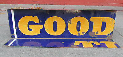 """GOODYEAR Tires Porcelain Sign 28"""" Repurposed Old Station Oil Gas Unique"""
