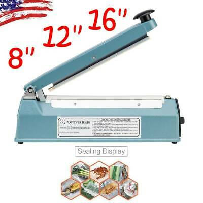 "8"" 12"" 16"" Hand Impulse Heat Sealing Sealer Machine Poly Element Plastic Sealer"