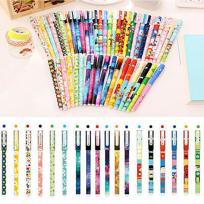 New Office Supplies 0.38mm Rollerball Gel Pens Fine Point 6-Pack Assorted Colors