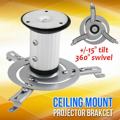 Universal Projector Ceiling Mount Bracket Tilt/360 Rotation LCD/DLP Home Theatre