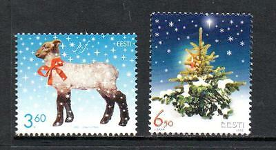 Estonia Mnh 2002 Sg435-436 Christmas