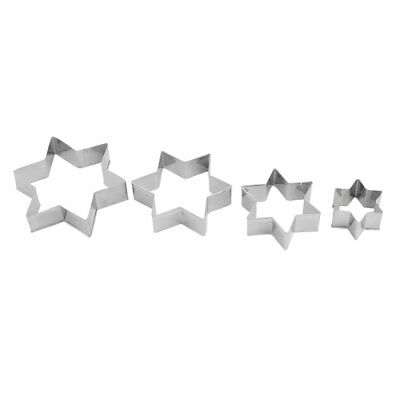 Home Metal Star Shape Baking Cookie Chocolate Handmade DIY Mold Cutter 4 in 1