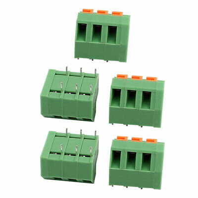 5pcs KF237 300V 10A 5.08mm Pitch 3P Spring Terminal Block for PCB Mounting