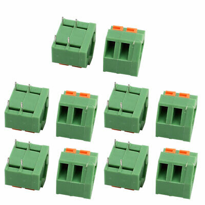 10pcs KF237 300V 10A 5.08mm Pitch 2P Spring Terminal Block for PCB Mounting