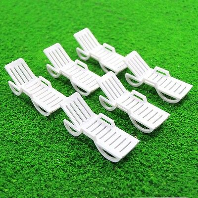 TYS15025 6pcs Model Railway Layout 1:25 Sun Loungers Beach Chairs Bench  G Scale
