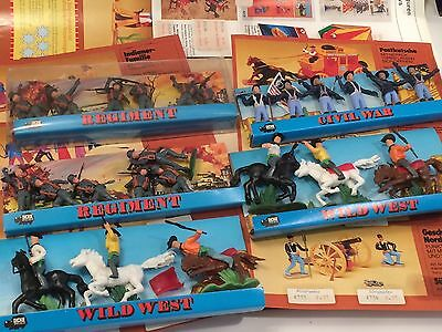 Aufstellfiguren Steckfiguren Wild West Civil War Regiment & Werbeblätter