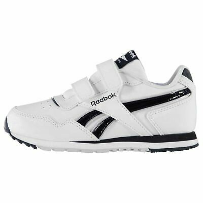 Reebok Kids CL Glide Boys Touch and Close Flat Padded Ankle Collar Shoes 8ef853890