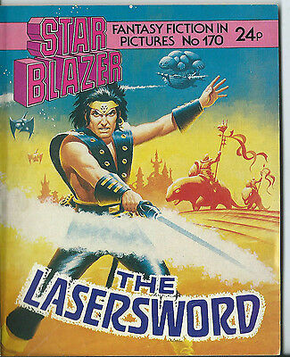 The Lasersword,starblazer Space Fiction Adventure In Pictures,no.170,1986