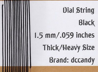 Radio Dial Cord 12 Ft BRAIDED Nylon String 1.5mm BLACK for Vintage Radio Tuner