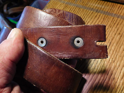 Vintage Brown Leather Made In Mexico Work Belt Size 36