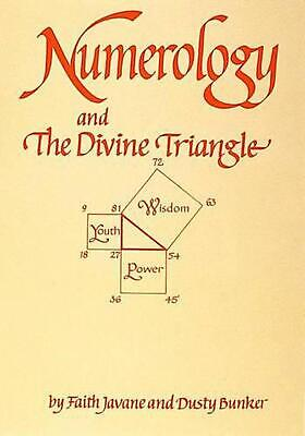 Numerology and the Divine Triangle by Faith Javane Paperback Book Free Shipping!