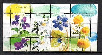 Estonia Mnh 2004 Ms459 Flowers