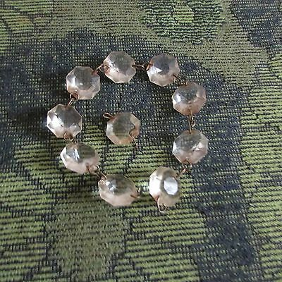 "Lot Of 10 Vintage Glass Chandelier  5/8"" Prism Crystals. Nice Lot"