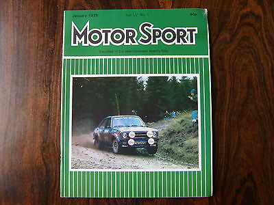 MOTOR SPORT MAGAZINE - JANUARY 1979 - Vol. LV No.1 - SEE IMAGE FOR CONTENTS m