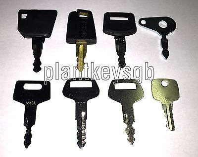 Plant / Digger / Tractor Key Set - Free Uk Post