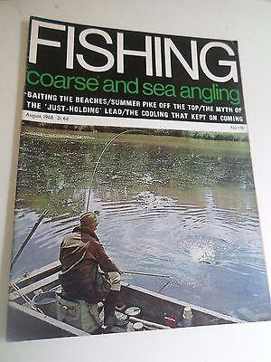 Vintage Magazine AUGUST 1968 COARSE AND SEA ANGLING + Illustrated + Advertising