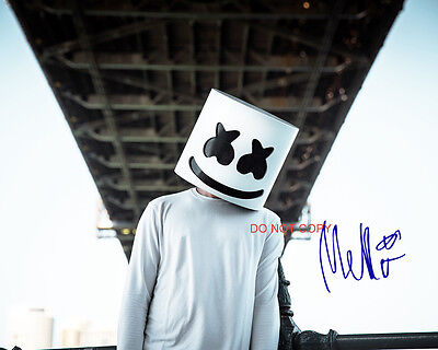 "DJ Marshmello Reprint Signed 11x14"" Poster Photo #4 RP Autographed Electronic"