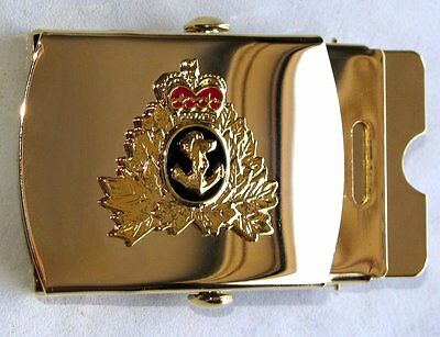 Canada RCN Royal Canadian Navy Golden Belt buckle