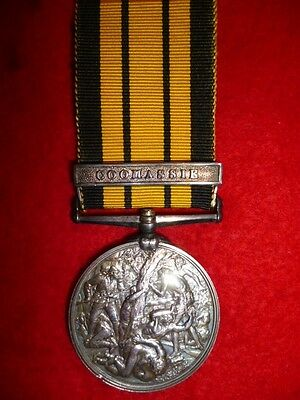 Victorian Ashantee Medal for 1873, with bar Coomassie to Rifle Brigade, Allcock