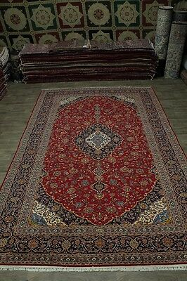 Great Palace Size Rare Traditional Kashan Persian Rug Oriental Area Carpet 10X17