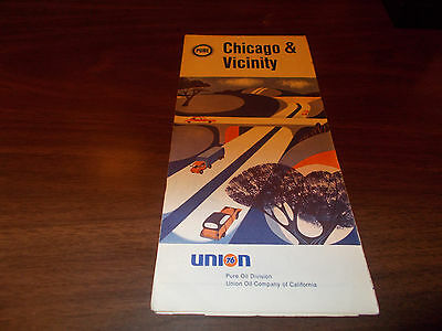 1969 Pure Oil Chicago and Vicinity Vintage Road Map