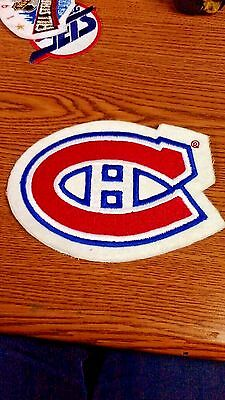 """Nhl Montreal Canadiens Felt 6 1/2 X 5"""" Sew On Patch"""