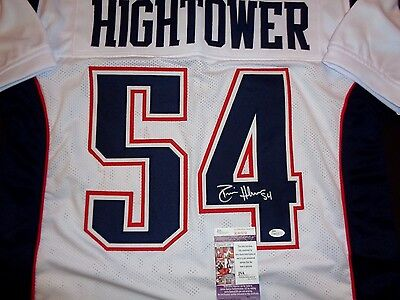 Dont'a Hightower New England Patriots Autographed White Style Jersey W/Coa JSA