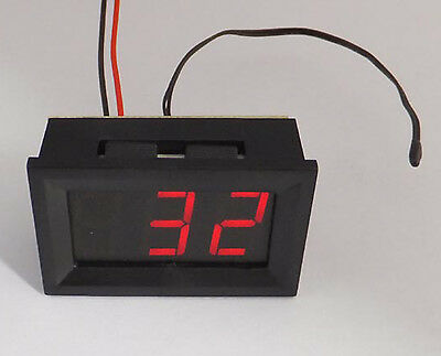 US Stock Red Led Digital Fahrenheit Temperature Panel Meter 0 - 167 ℉ With Probe