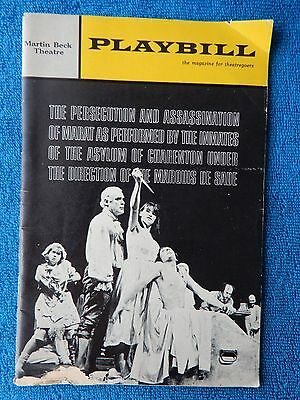 The Persecution And Assassination Of... - Martin Beck Playbill - February 1966