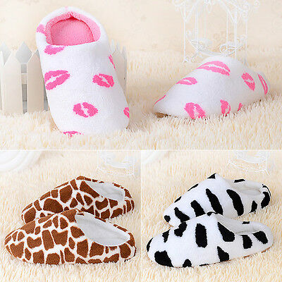 New Unisex Soft Warm Indoor Slippers Cotton Sandal House Home Anti-slip Shoes