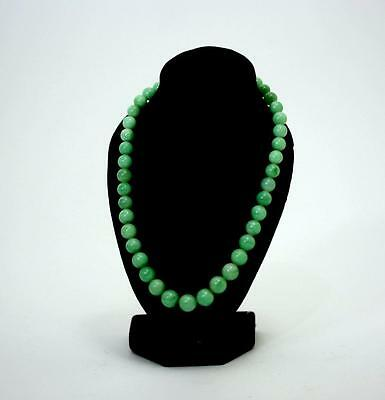"""a Type"" Fine Antique Chinese Jadeite Beaded Necklace"