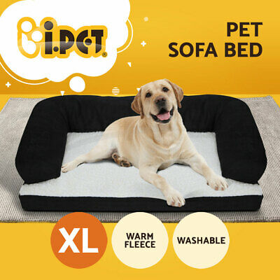 i.Pet Dog Bed Beds Couch Sofa Extra Large Warm Cushion Fleece Washable Cover Cat