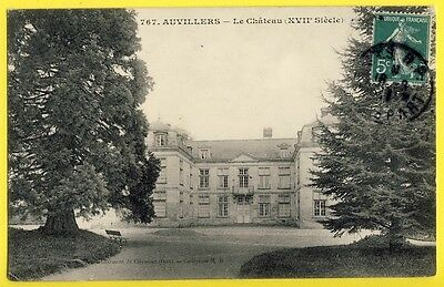 cpa France Castle Burg 60 - NEUILLY sous CLERMONT (Oise) CHÂTEAU d'AUVILLERS