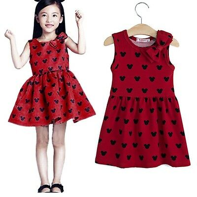 Cute Girls Princess Dress with Bowknot