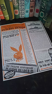 Vintage * 1968 Companion Book Club Leaflet * Featuring Playboy Book Advert *rare