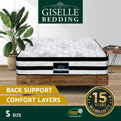 NEW Mattress Single Size Euro Top 5 Zone Pocket Spring High Resilience Foam 34cm