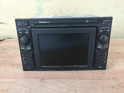 Skoda Octavia / Superb Sat Nav Navigation Cd Player 1U0035191B
